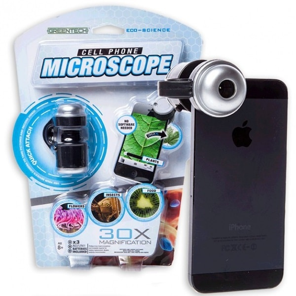 Фото Микроскоп для телефонов Microscope Phone 30х увеличение